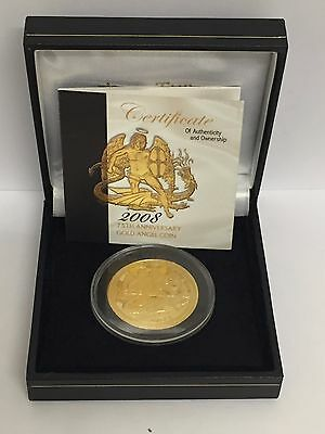 2008 1oz Isle of Man Angel Gold Coin, Complete with Case + COA