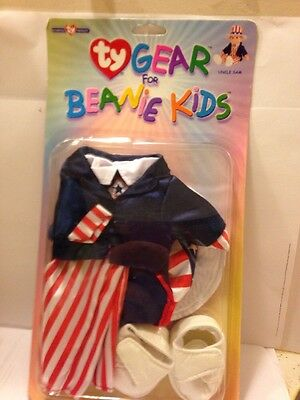 New Ty Gear Clothing For Beanie Kids, Uncle Sam In Sealed Box