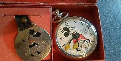 vintage ingersoll pocket watch mickey mouse 1934 boxed