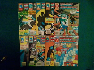 10 Off The Transformers Comics #241/ 250 From October  / December 1989