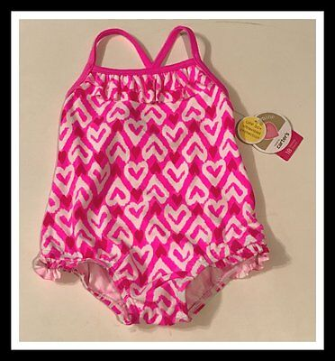 Nwt Carter's Child Of Mine One Piece Heart Swimsuit Size 3-6 6-9 12 18 Months 5T