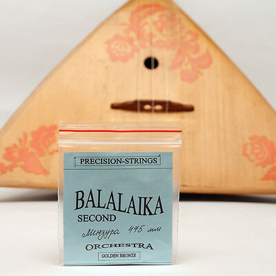 Three (3) string BALALAIKA SECOND Bronze Wound strings made in Ukraine Balalayka
