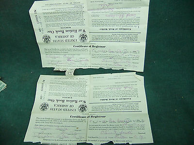 United States - War Ration Book One - lot of two