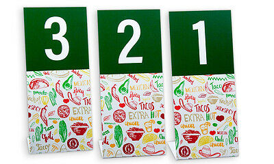 Plastic Table Numbers, Mexican Food Theme, Numbers 1-40, L style, Free Shipping