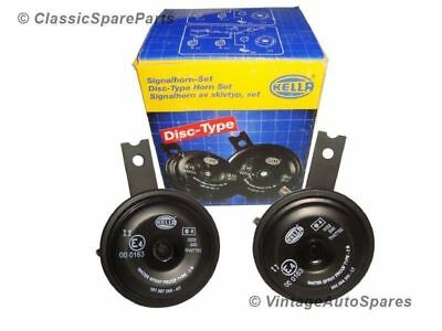 Hella 12V Disc Type Strong Tone Signal Horn Set 118 Db Fits For Cars, SUV, 4X4