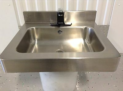 Just Wall Hung Stainless Sink With  Sloan Sensor Faucet