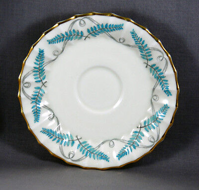 """Royal Worcester Turquoise Ferncroft 6"""" Saucers for Tea/Coffee Cups"""