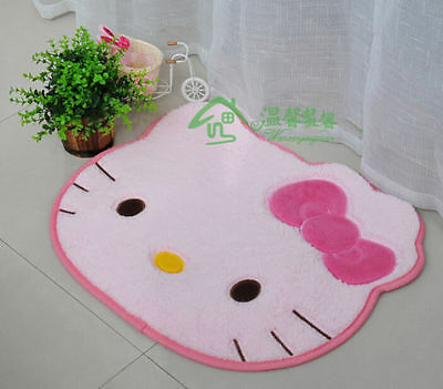 Hello Kitty Pink Bow Floor Mat Rug Plush Door Mat Light Pink NIP