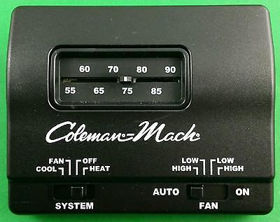 COLEMAN MACH BLACK Manual Wall Thermostat Single Stage Heat/Cool RVP