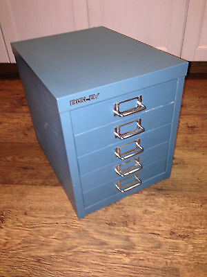 Bisley Cabinets -  5 Drawer - Doulton Blue