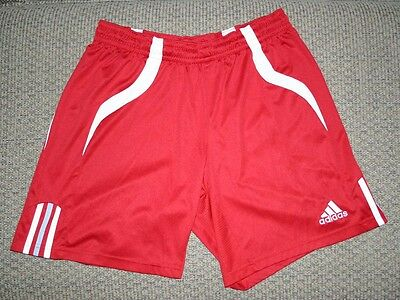 adidas CLIMACOOL Vented Athletic Soccer Shorts Red/White Men's Size Large