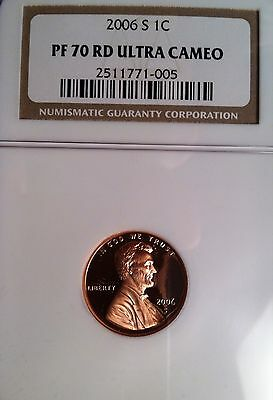 2006 S Proof Lincoln Memorial Cent/Penny - NGC PF 70 Red Ultra Cameo