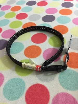 New Wrangler Black leather belt youth small