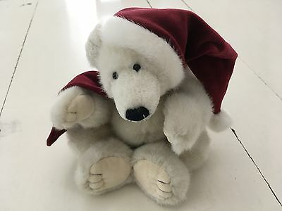 "The Boyds 13"" Polar Bear with Red Hat and Scarf---J.B. Bean Series"
