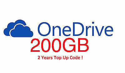 Cloud OneDrive 200GB 2 Years OFFICIAL Top Up Code Microsoft One Drive by SEAGATE