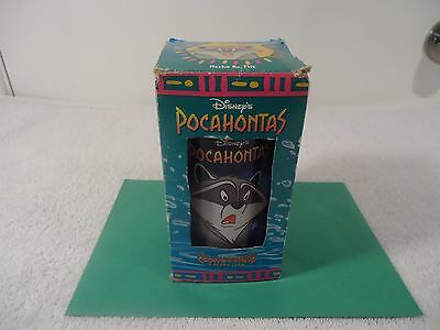Disney's Pocahontas Colors Of The Wind Collection Glass Burger King Meeko &Flit