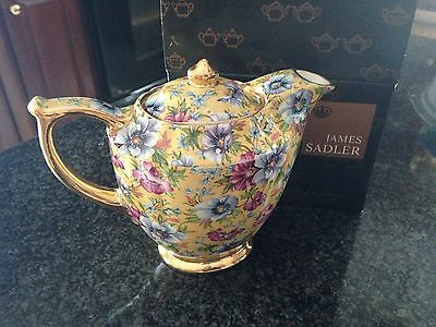New in Box Sadler Sophie Chintz Venice Hotwater Jug /Small teapot