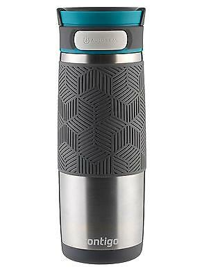 Contigo AUTOSEAL Transit Stainless Steel Travel Mug, 16 oz, with Blue Accent Lid