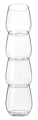 TOSSWARE Shatterproof Stackable Wine and Cocktail Glass, 14 oz. BPA Free...