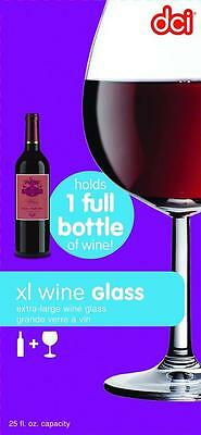 DCI XL Wine Glass Unique Holds an Entire Bottle of Wine, 750ml capacity