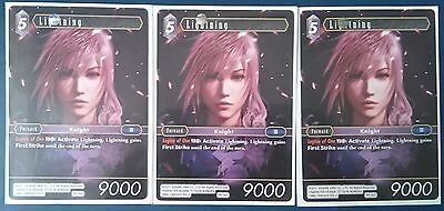 3x Lightning Promo PR-003 Final Fantasy TCG