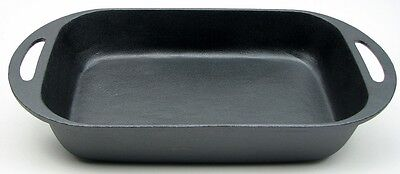 Cast Iron Old Mountain Large Baking Rectangular Pan Cookware 16 x 2.5 x 8.5""