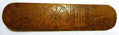 Antique Nautical 1772 Carved Wooden Busk