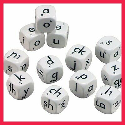 Dice Alphabet 6 Face Lowercase 22mm (12 dice per set) Learning Resource
