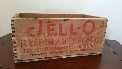 Vintage Antique 1900s Jello Wooden Crate Box Jell-O Advertising