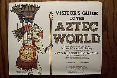 National Geographic Map - Visitor's Guide to the AZTEC WORLD - (December 1980)