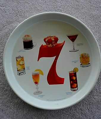 Seagram's 7 ~ Where Quality Drinks Begin tray