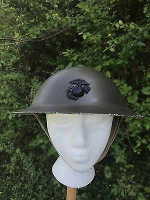 Altered WW1 Doughboy U.S. Military Metal Helmet Lined *MESS NIGHT AWARD IN 2004*