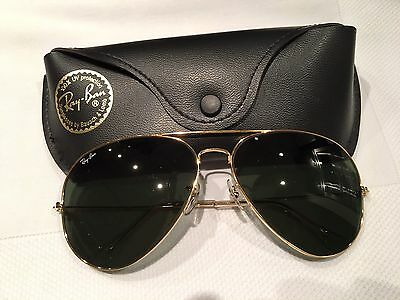 Vintage Authentic Ray Ban Bausch & Lomb Aviator Sunglasses 64014