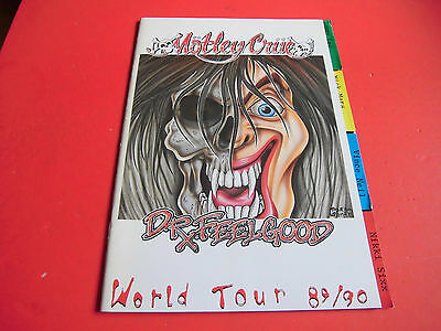 Motley Crue Japan Tour Program Dr. Feelgood World Tour Japanese Brochure 1989/90