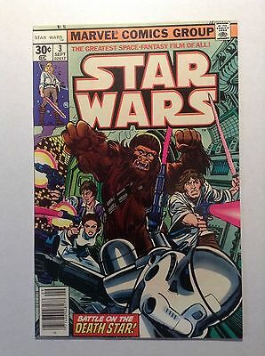 Star Wars comic book #3 Sep 1977, Marvel First Printing Low Shipping Darth Vader