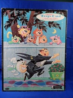 Vintage 1961 Hanna-Barbera Top Cat Frame Tray Puzzle Whitman Complete CUTE!