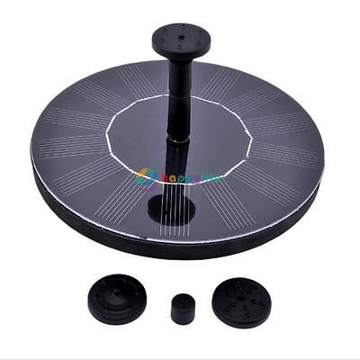 Solar Power Fountain Pump Floating Panel Pool Garden Pond Submersible Watering