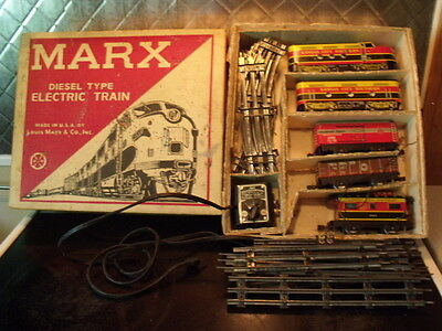 Marx    Diesel  Electric  Train  Set.