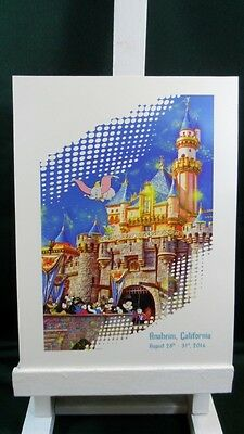 Disney Disneyland Anaheim 2014 Castle oversized Postcard Print NEW!