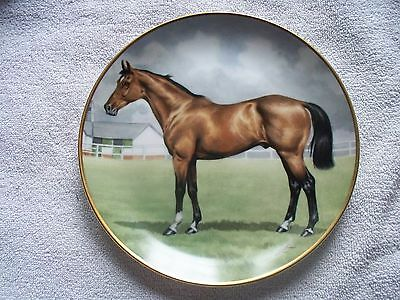 Kaiser Noble Horses Thoroughbred Libby Turner Horse Collector Plate