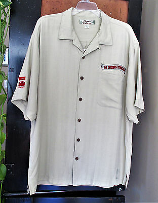 Rare Tommy Bahama Sz L Green Silk 'No Strings Attached' Tour 2000 N'SYNC Shirt