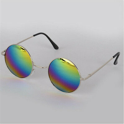 New Vintage Retro Men Women Round Metal Frame Sunglasses Glasses Eyewear-