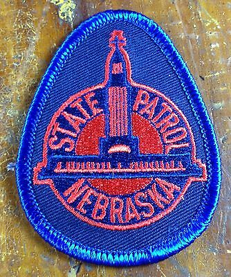 State Patrol Nebraska Blue with Red Embroidery Logo Police Patch