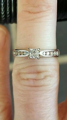 Genuine 100% 14Ct Solid White Gold 0.50Ct Diamond Engagement Ring
