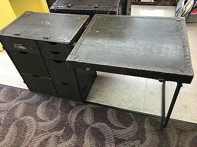 M1945 Field Desk US ARMY NAVY USMC GREEN Military Issued Korean War Era