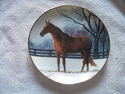 Winter Pasture Donald W. Patterson Horse Collector Plate