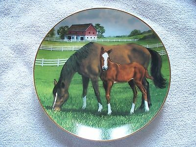 Morning On The Farm Donald W. Patterson Horse Collector Plate