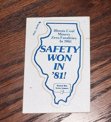 1981 Illinois Safety Achievement Coal Miner Decal