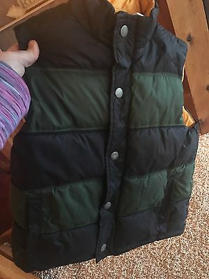Kids Gymboree Boys Girls Puffer Vest Navy Blue Huntergreen 7/8 bx74