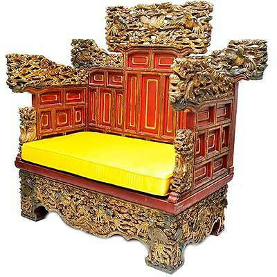 Imperial Empress Woodcarving Chinese Throne